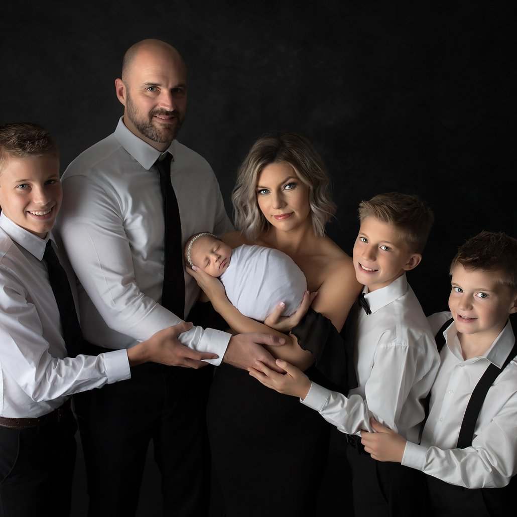 Midwife Kim Daly with her family