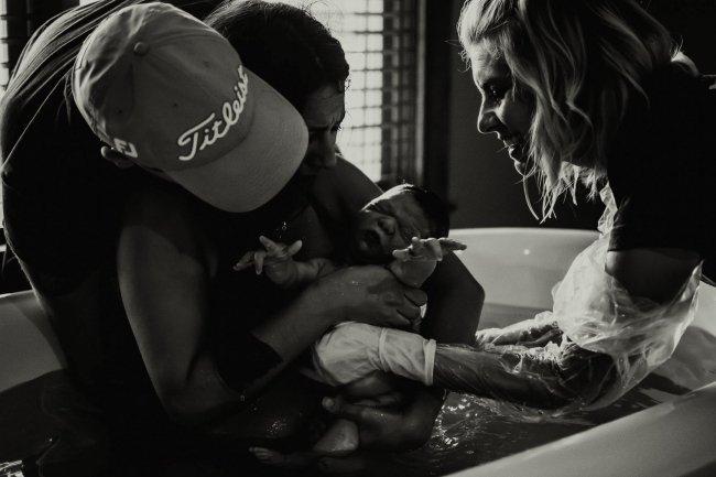 Waterbirth in Dallas Birthcenter